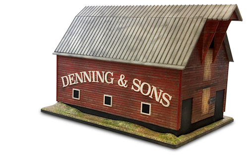 Family Barn 3D Cremation Urn